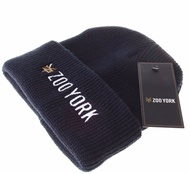 Text Logo Beanie French Navy
