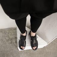 FINDSENSE H1 2018 歐美 男 新款 高品質 真皮個性透氣 獨家款 露趾繫帶 羅馬涼鞋閒潮男 涼鞋