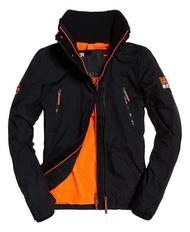 跩狗嚴選 極度乾燥 Superdry 黑橘 攻擊者夾克 刷毛 保暖 風衣 外套 無帽 立領 背後有線