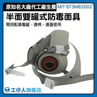 『工仔人』防毒面具 化工煤礦 防毒面罩 PM2.5口罩 濾毒防塵 工程用 MIT-ST3M62002