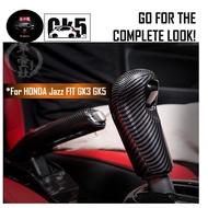 2-3 DAY DELIVER Honda Jazz/Fit GK3 GK5 Handbrake Cover Hand Break Cover Carbon Fiber Car Decoration Accessories IYao