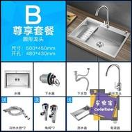 水槽 不銹鋼水槽單槽 廚房洗菜盆加厚手工水池洗碗池台下304T