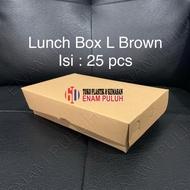 Lunch box eco L paper brown kraft Chocolate Contents 25 pcs eco Friendly large Lamination