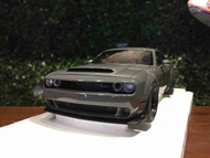1/18 AUTOart Dodge Challenger SRT Demon Grey 71748【MGM】