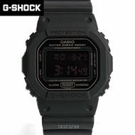 CASIO卡西歐G-SHOCK系列 消光黑方形電子錶 防水200米手錶 柒彩年代