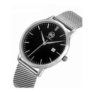 [AIBI] AIBI Mens Male's AB51103-2 Stainless Steel Black Dial Date Calendar Daily Dress Watch [From USA] - intl
