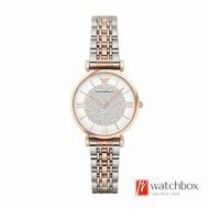 Emporio Armani Women Retro  Rose Gold Stainless Steel Quartz Watch AR1926