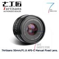 7artisans 50mm F/1.8 APSC Manual Lens ( Fuji FX mount ) (Original 7artisans Warranty)