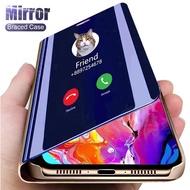 สมาร์ทMirror Flip CaseสำหรับSamsung Galaxy A50 A70 A51 A71 A3 A5 A7 2017 A6 A7 A8 A9 2018 a10 A20 A30 A10S A20S J3 J5 J7 Proกรณี