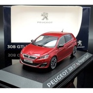 【M.A.S.H】[現貨瘋狂價] 原廠 Norev 1/43 Peugeot 308 GTi 2015 red