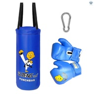 ▲PAF Kids Punch Bag and Gloves Boxing Hanging Punch Bag with Gloves Kick Boxing Bag and Training Gloves Youth Muay Thai Punching Bag Mitts Age 3 to 12 Years Old