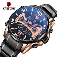 [Watch spot] KADEMAN new large dial men's multi-function outdoor sports waterproof steel band watch K