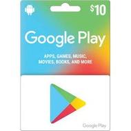 (序號)美國 google play Gift Card US $10 美金