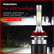 (2pcs) 48W 12V Car LED Headlight Bulbs With Fan Low Beam High Beam H4/H1/H3/H13/H7/H11/H15/H16/9004/9005/9012/880/DS