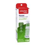 【美國Playtex】防脹氣拋棄式奶瓶 237ML-296ML/8oz-10oz(拋棄式奶瓶*1+替換袋5入)