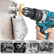 18V 3 In 1 Cordless Impact Drill 2 Speed Rechargeable Electric Screwdriver Drill Li-Ion Battery Adapted to Makita Battery