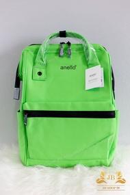[สินค้าถ่ายจากสินค้าจริง] ของแถมมีทุกใบ Anello มีป้ายกันปลอมทุกใบ กระเป๋าเป้ รุ่น Mat Rubber Large Backpack Green