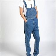 baju kodok jeans pria celana overall jeans