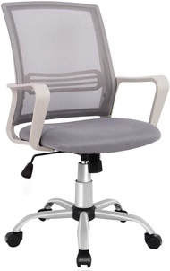 SMUGDESK Office Chair, Mid Back Mesh Office Computer Swivel Desk Task Chair, Ergonomic Executive Chair with Armrests