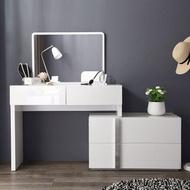 林氏木業現代簡約環保E1白亮光漆面化妝桌 DA1C