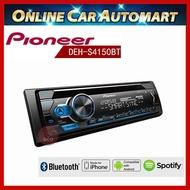 -【Pioneer】先鋒 DEH-S4150BT CD/MP3/WMA/USB/AUX/iPod/iPhone 藍芽主機