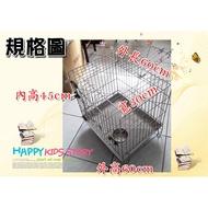 二手 不鏽鋼 不銹鋼 (雙門) 正抽 底盤活動 (304#級) 白鐵 兔籠 狗籠 貓籠 寵物籠 限自取