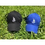【毒】 MLB 球隊 LOGO 老帽 彎帽 棒球帽 道奇 韓版 後扣可調 黑 藍
