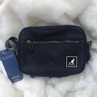 kangol  黑色 側背包 多內層 小包