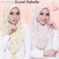 🎁FREEGIFT - Bawal Nabella Premium by Syuhada Blossom - Anti kedut mudah bentuk DROPSHIP DIPERLUKAN