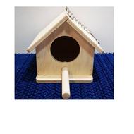 บ้าน,กล่องนอน,กล่องเพาะ ชนิดไม้ กระรอก,ชูก้าไรเดอร์ และนก ขนาด 18.5x16x14 ซม