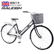 Raleigh Single speed bicycle women's day adult light city bus commuter bike leisure student male and female