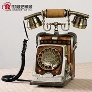 美琪 創意個性電話機復古座機 家用仿古藝術裝飾時尚造型電話機