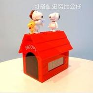 7-11 限量 史努比 咕咕鐘  積木造型狗屋電子鐘 史努比 狗屋造型報時咕咕鐘