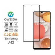【Oweida】Samsung A42 5G 2.5D滿版鋼化玻璃保護貼