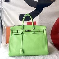 【法國代購】Hermes 真品 超美 稀少 奇異果綠 40cm birkin 柏金包