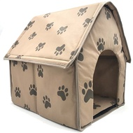 store Footprint Dog House for Medium Dogs Foldable Warm Soft Pet Mattress Washable Cat Nest Litter P