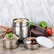 (photo)Vacuum Insulated Lunch Box Stainless Steel Jar Hot Cold Thermos Food Container [1.8L]