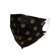 熊大 醫療3D立體口罩(未滅菌) 黑L-盒裝25入