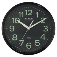 HOSEKI H-9018 Round Quartz Designer Wall Clock Silent Non-Ticking 3D Large Number Easy To Read Living Kitchen Office