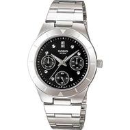 Casio นาฬิกาข้อมือผู้หญิง หน้าปัดเพชร 6 เข็ม สายสแตนเลส รุ่น LTP-2083