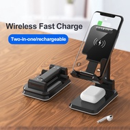 QI 10วัตต์3 In 1 Wireless ChargerสำหรับIphone 11 Charger DockสำหรับApple Watch airpods Wireless Charge Stand