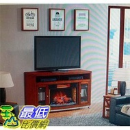 [COSCO代購 如果售完謹致歉意] Twinstar 32 吋壁爐暖器電視櫃 _W110678
