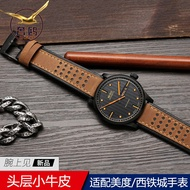 Luxury Gull Watch Band for Mido Helmsman Citizen Fossil Men's Watch Leather Strap 20 22mm