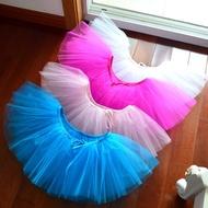 ⊙✧兒童半身芭蕾舞裙成人拉丁舞網紗裙 少兒表演短裙系帶網紗蓬蓬裙