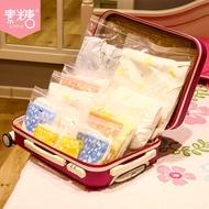 現货☃☋素糖嬰兒衣服收納袋旅行行李分裝袋便攜寶寶衣物玩具密封袋待產包