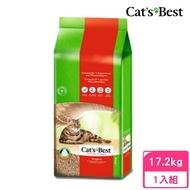 【CAT'S BEST 凱優】凝結木屑砂《紅標》40L/17.2kg