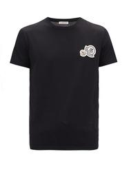 【MF SHOP】Moncler  Double logo cotton jersey TEE MENS 短袖T恤
