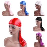 JLCWG Spandex Solid Hair Accessories Headband Pirate Hat Hip-Hop Bandana Durag Cap