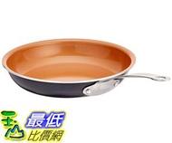 [8美國直購] 陶瓷鍋鈦合金不沾鍋 Gotham Steel Ceramic and Titanium Nonstick Fry Pan, Brown, 10.25吋 B01GRV3J08