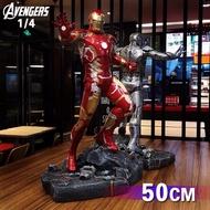 【皮特模玩】   1/4 復仇者聯盟 鋼鐵人 東尼史塔克 MK43 馬克43 雕像擺飾 1/4 樹酯雕像
